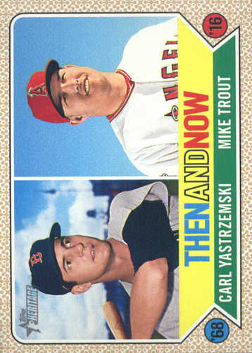 Photo of 2017 Topps Heritage Then and Now #TAN5 Mike Trout/Carl Yastrzemski