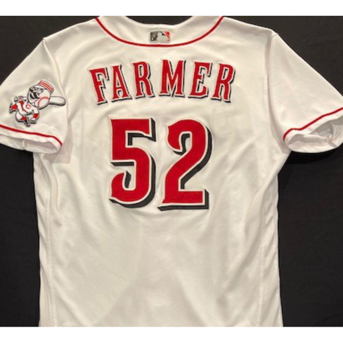 Photo of Kyler Farmer -- 2020 Home White Jersey -- Team Issued -- Size 44