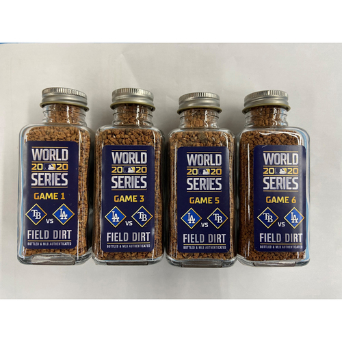 Photo of 2020 Los Angeles Dodgers World Series Wins Game-Used Dirt Jar Bundle - Games 1, 3, 5, 6