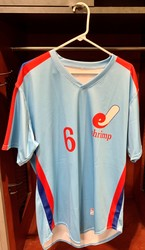 Photo of Jacksonville Expos Fauxback Jersey #6 Size 46