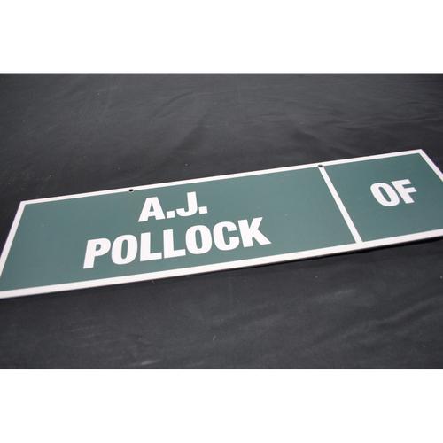 Photo of 2009 MLB Draft Nameplate - A.J. Pollock