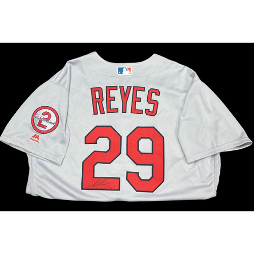 Photo of Alex Reyes Autographed Team Issued Road Jersey w/ Red Patch  (Size 48)