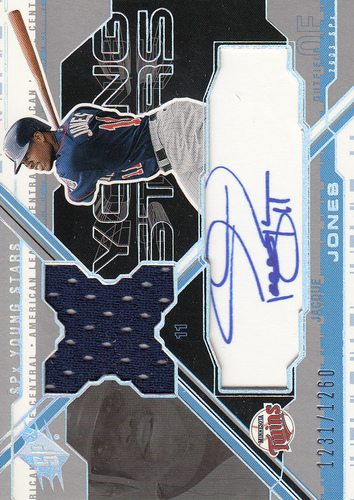 Photo of 2003 SPx Young Stars Autograph Jersey #JJ Jacque Jones/1260