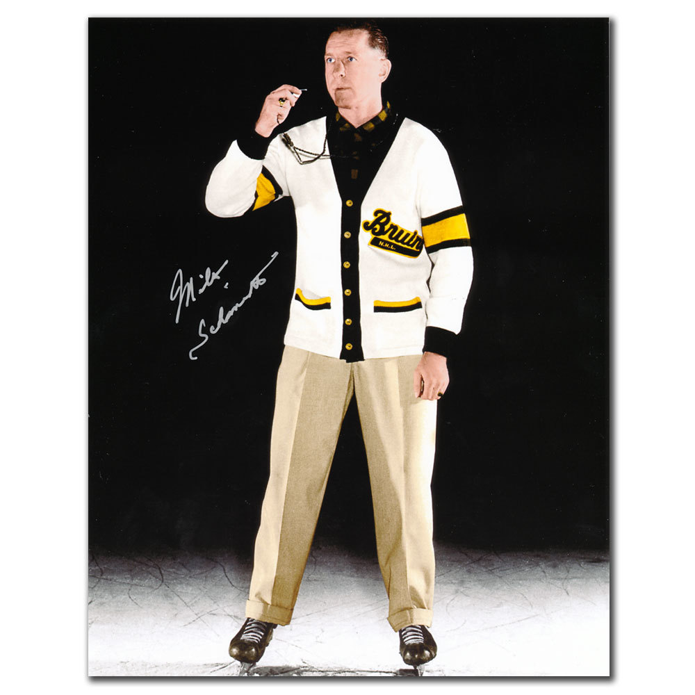 Milt Schmidt Boston Bruins Coach Autographed 8x10
