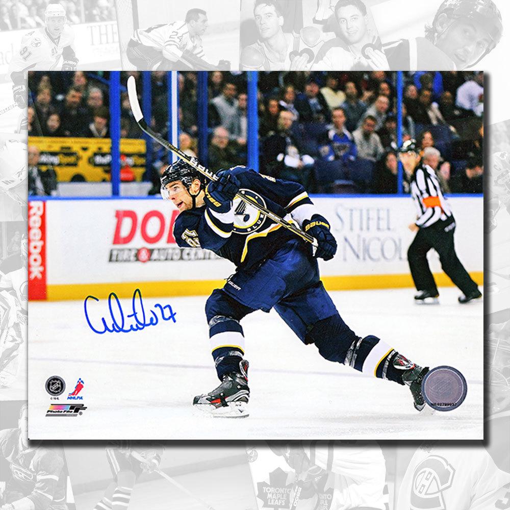 Alex Pietrangelo St. Louis Blues SLAPSHOT Autographed 8x10