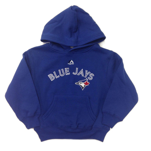 Toronto Blue Jays Kids Wordmark Pull Over Hoody by Majestic