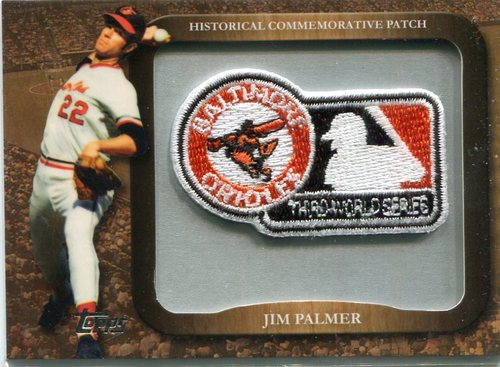 Photo of 2009 Topps Legends Commemorative Patch Jim Palmer/1970 World Series