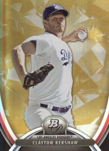 Photo of 2013 Bowman Platinum Gold #23 Clayton Kershaw