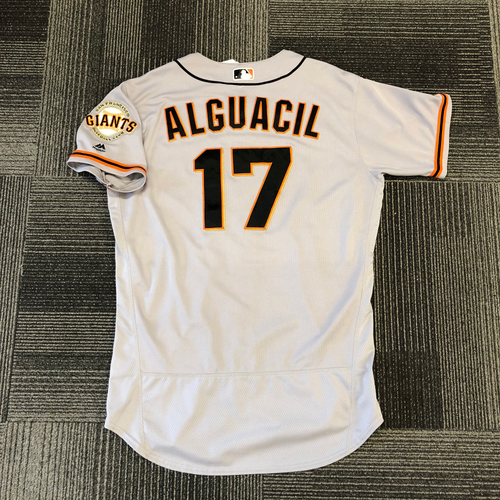 San Francisco Giants -2017 Game-Used Road Alternate Jersey worn by #17 Jose Alguacil