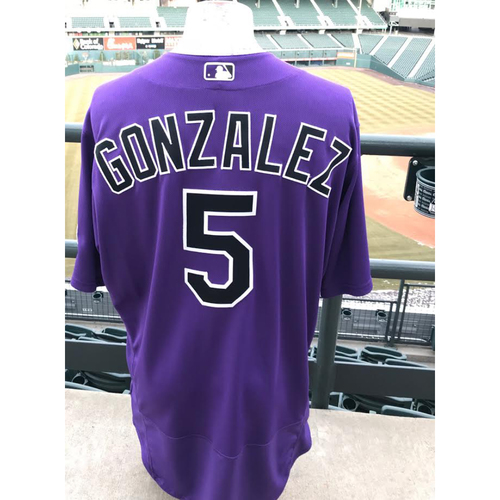 Photo of 2017 Carlos Gonzalez Game-Used Jersey
