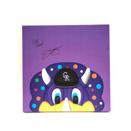 Photo of Autographed Dinger Canvas Print - Rockies