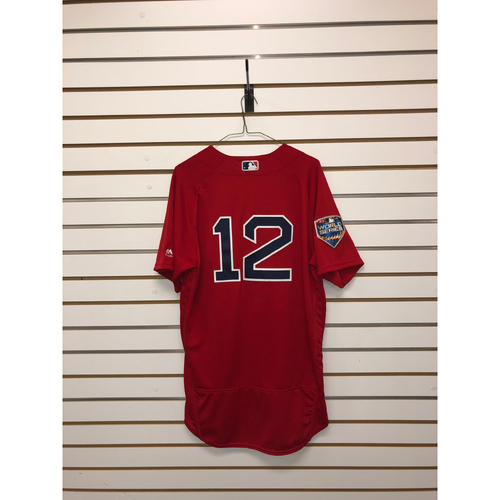 Photo of Brock Holt Team-Issued Home alternate 2018 World Series Jersey