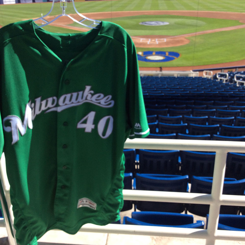 Photo of Jason Lane 2018 Team-Issued St. Patrick's Day Jersey