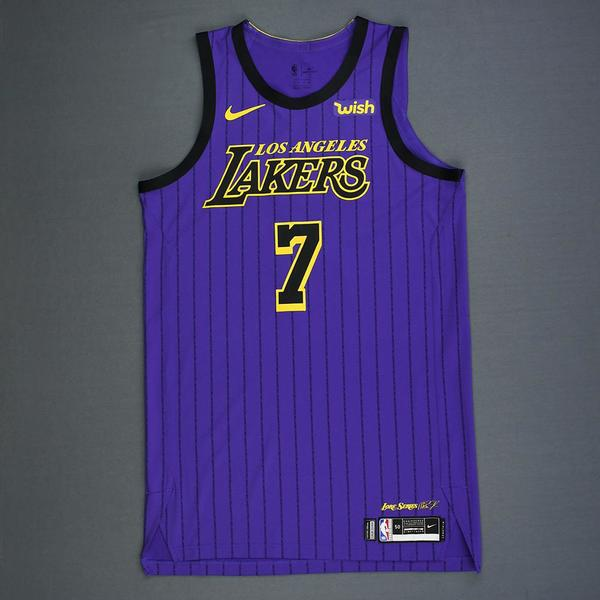 JaVale McGee - Los Angeles Lakers - Game-Worn City Edition Jersey ...