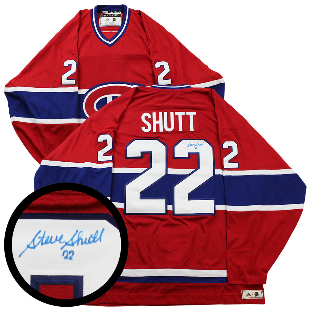 Steve Shutt Signed Jersey Canadiens Pro Red Adidas Classics