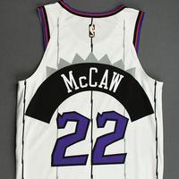 Patrick McCaw - Toronto Raptors - Game-Worn Classic Edition 1995-96 Home Jersey - 2019-20 Season