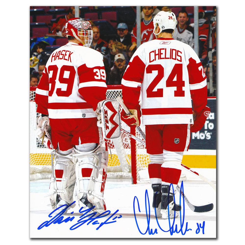 Dominik Hasek & Chris Chelios Detroit Red Wings Dual Autographed 8x10