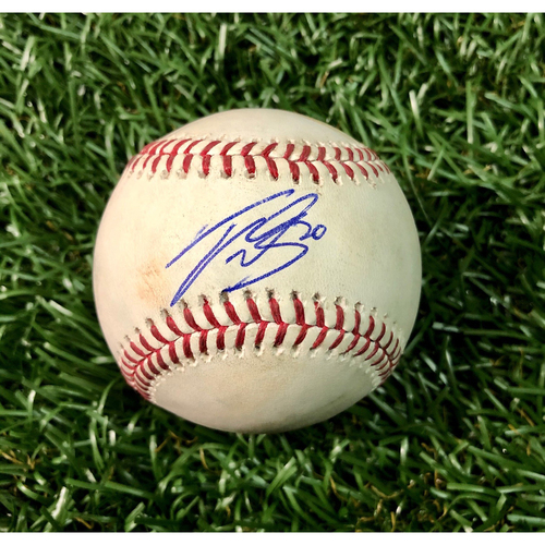 Photo of Game Used Autographed Baseball: Tyler Glasnow (7.0IP, 3 SO) strikes out Josh Donaldson - September 11, 2018 v CLE - Tyler Glasnow Autographer