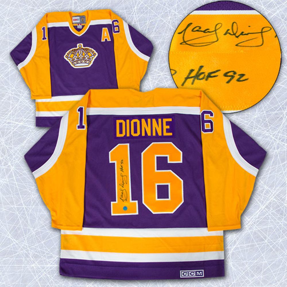dd5e31f01 Marcel Dionne Los Angeles Kings Autographed Retro Purple CCM Hockey Jersey