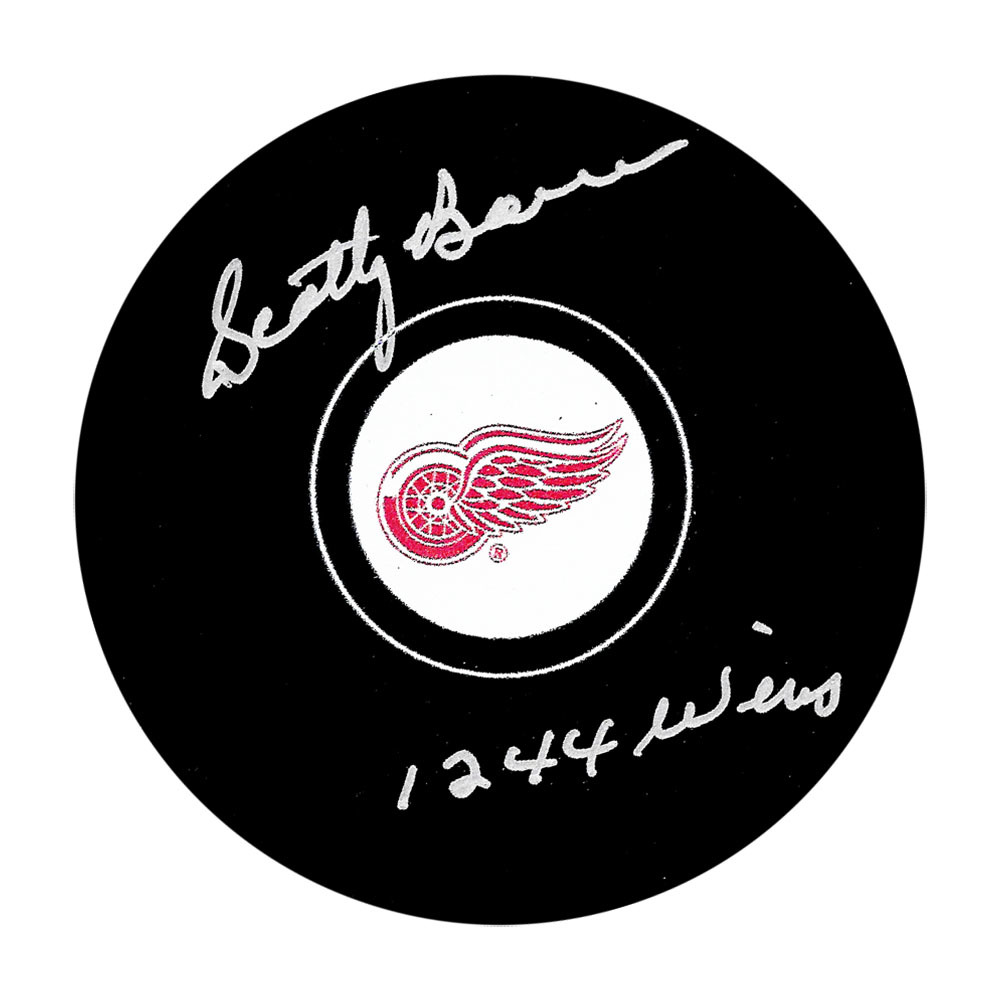 Scotty Bowman Autographed Detroit Red Wings Puck w/1244 WINS Inscription