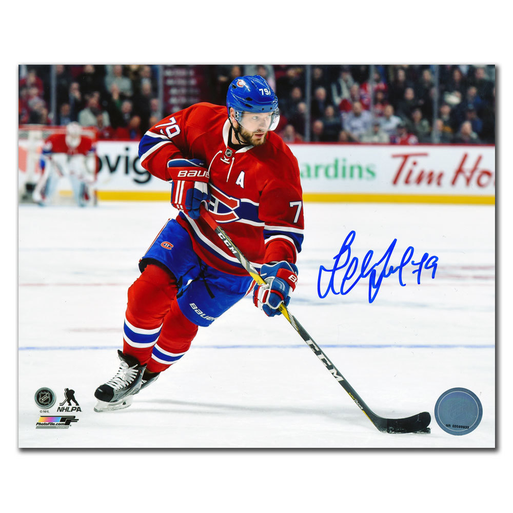 Andrei Markov Montreal Canadiens BREAKOUT Autographed 8x10