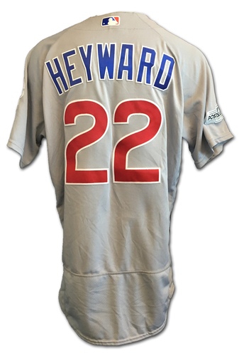 Jason Heyward Game-Used Jersey -- NLDS Game 2 -- Cubs at Nationals -- 10/7/17