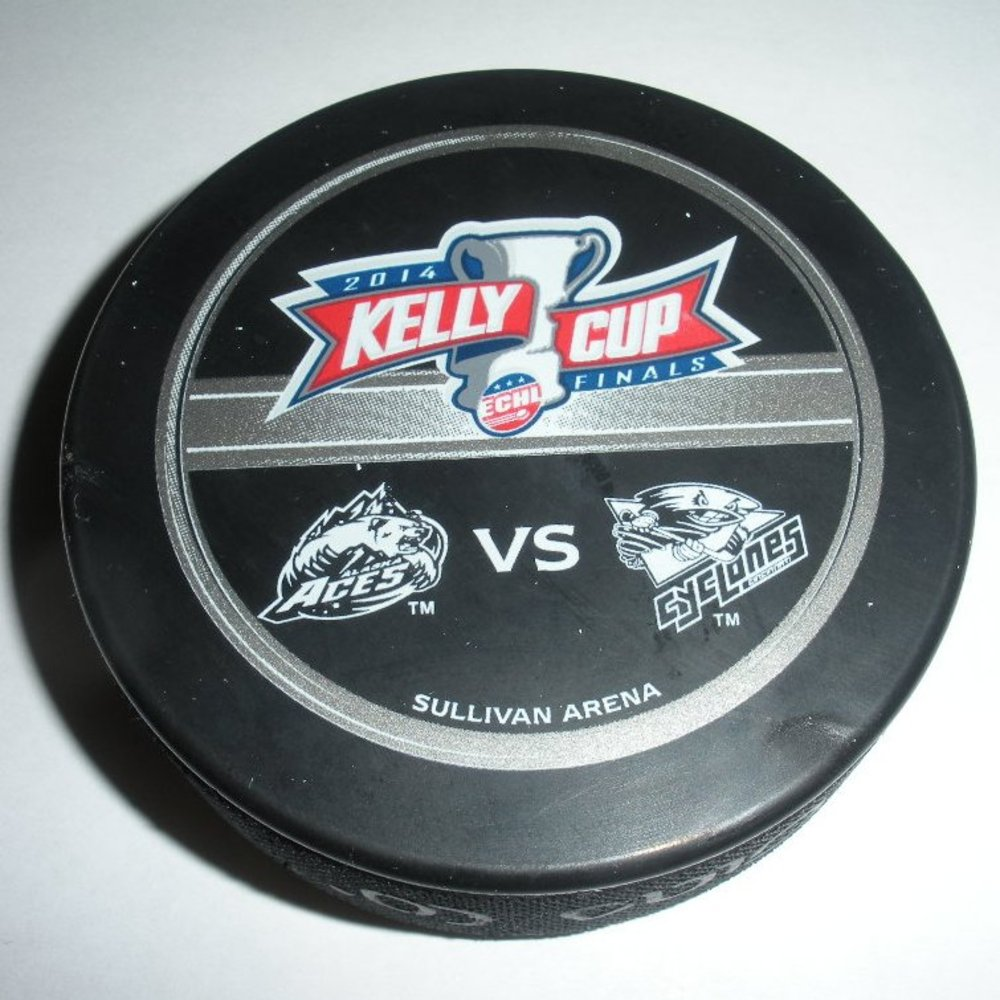 2014 Kelly Cup Finals Goal Puck - Game #1 - Nick Mazzolini - Alaska Aces - Goal #1