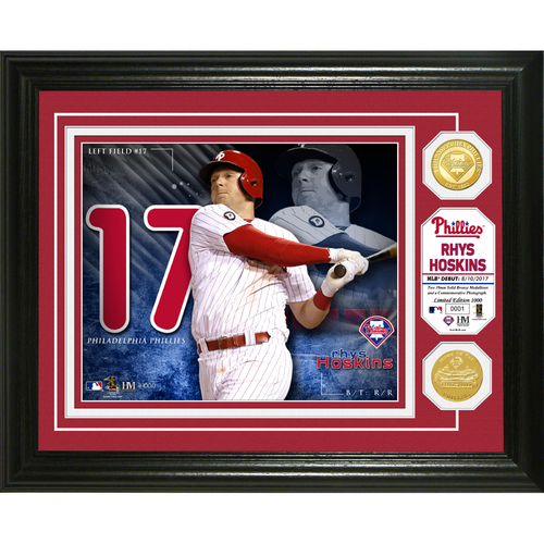Photo of Serial #1! Rhys Hoskins Bronze Coin Photo Mint