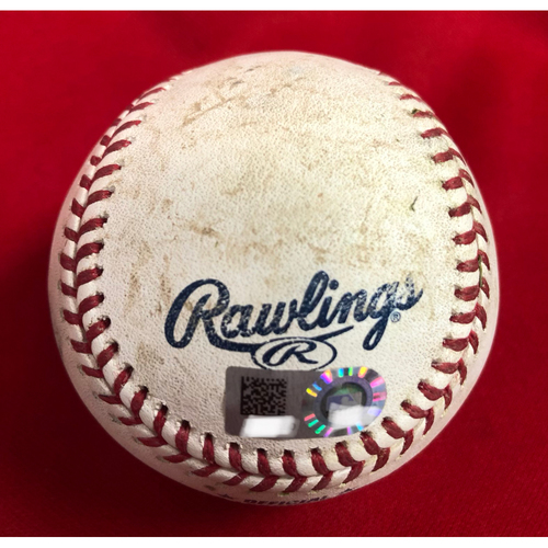 Photo of Gregory Polanco Triple Baseball -- Game Used -- 07/20/2018 -- PIT vs. CIN -- 7th Inning -- Brice to Polanco (3B); PIT Polanco's 3rd Triple of 2018