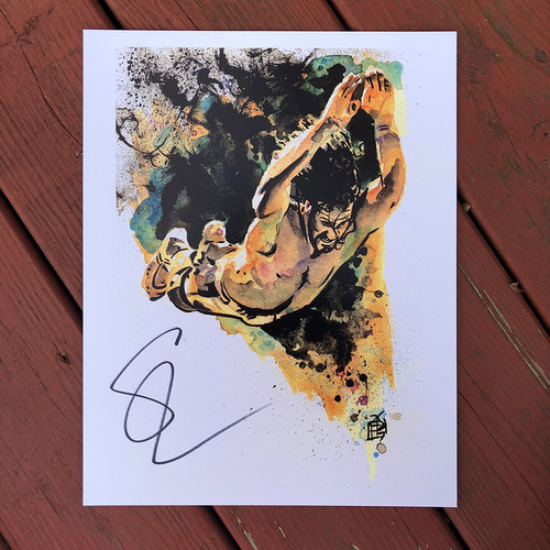Seth Rollins SIGNED 11 x 14 Rob Schamberger Print