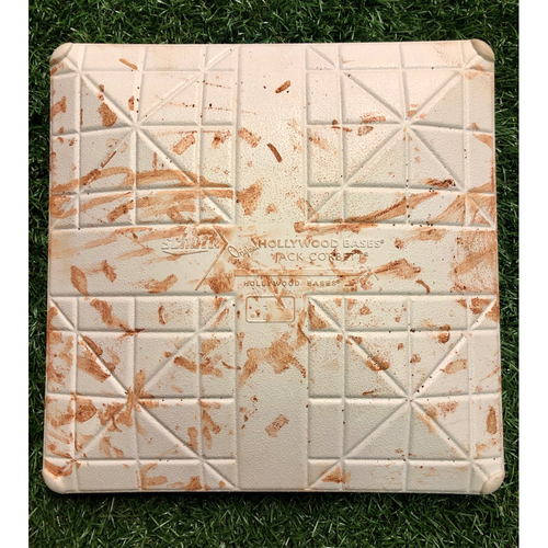 Photo of Game-Used Second Base - Innings 1-3 - Kevin Kiermaier single and Wilson Ramos RBI Double - March 27, 2018 v DET