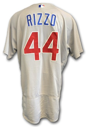 Photo of Anthony Rizzo Game-Used Jersey -- Rizzo 2 Hits, 1 RBI (57th of Season) -- Cubs at Pirates -- 7/4/19 -- Size 50