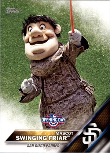 Photo of 2016 Topps Opening Day Mascots #M18 Swinging Friar