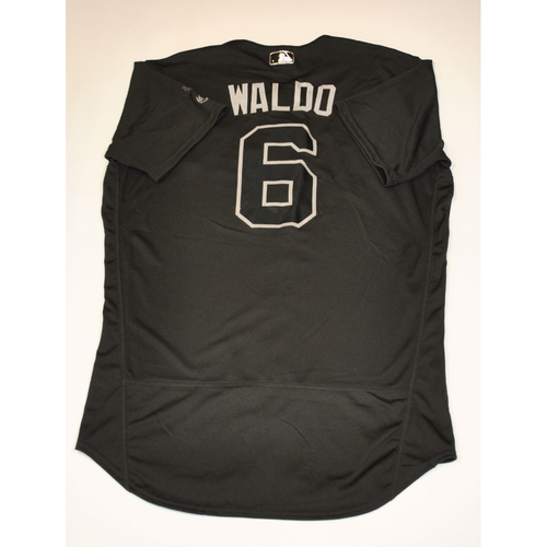 "Photo of Mike ""Waldo"" Freeman Cleveland Indians Game-Used 2019 Players' Weekend Jersey"