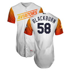 Photo of Paul Blackburn #58 Las Vegas Aviators 2019 Home Jersey