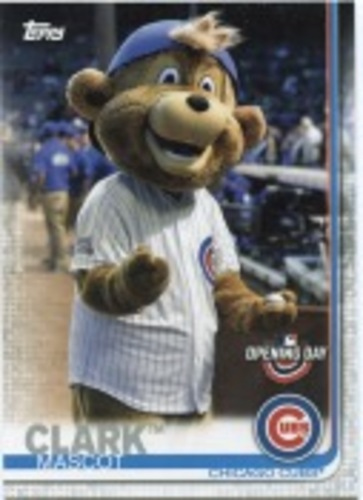 Photo of 2019 Topps Opening Day Mascots #M3 Clark