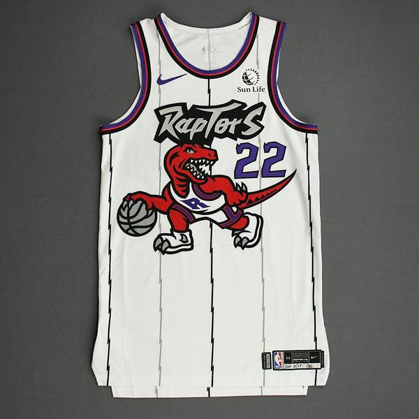 Image of Patrick McCaw - Toronto Raptors - Game-Worn Classic Edition 1995-96 Home Jersey - 2019-20 Season
