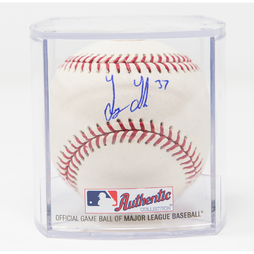 Photo of Joey Lucchesi Autographed Baseball