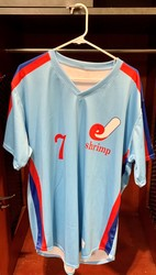 Photo of Jacksonville Expos Fauxback Jersey #7 Size 46
