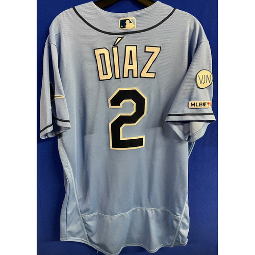 Photo of Game Used Columbia Blue Jersey: Yandy Diaz - March 31, 2019 v HOU
