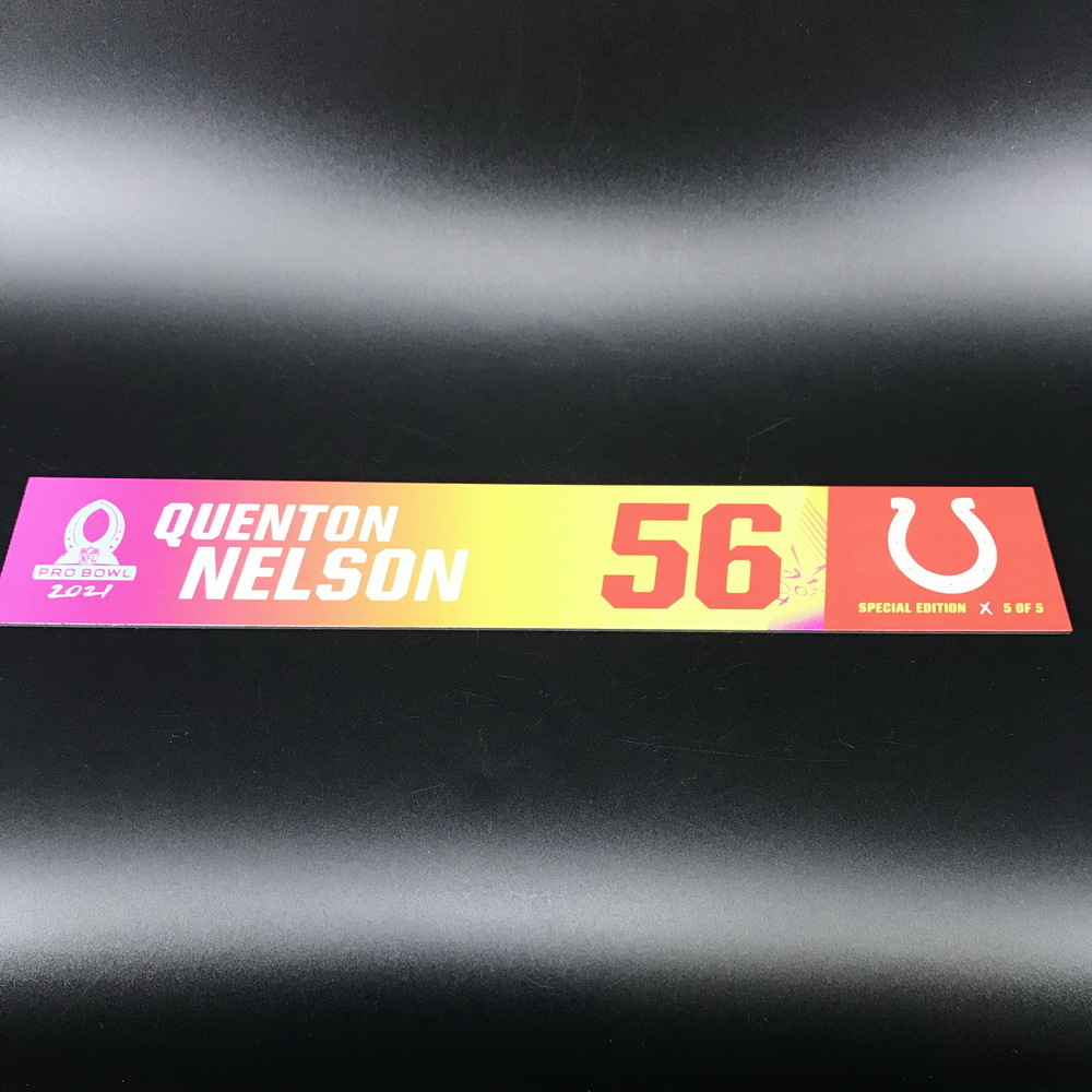 NFL - Colts Quinton Nelson 2021 Pro Bowl Locker Nameplate Special Edition #5 of 5