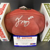 NFL - Panthers Tommy Tremble Signed Authentic Football (Slight Smudge)