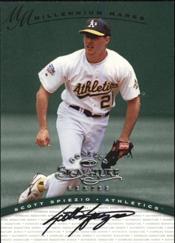 Photo of 1997 Donruss Signature Autographs Millennium #114 Scott Spiezio