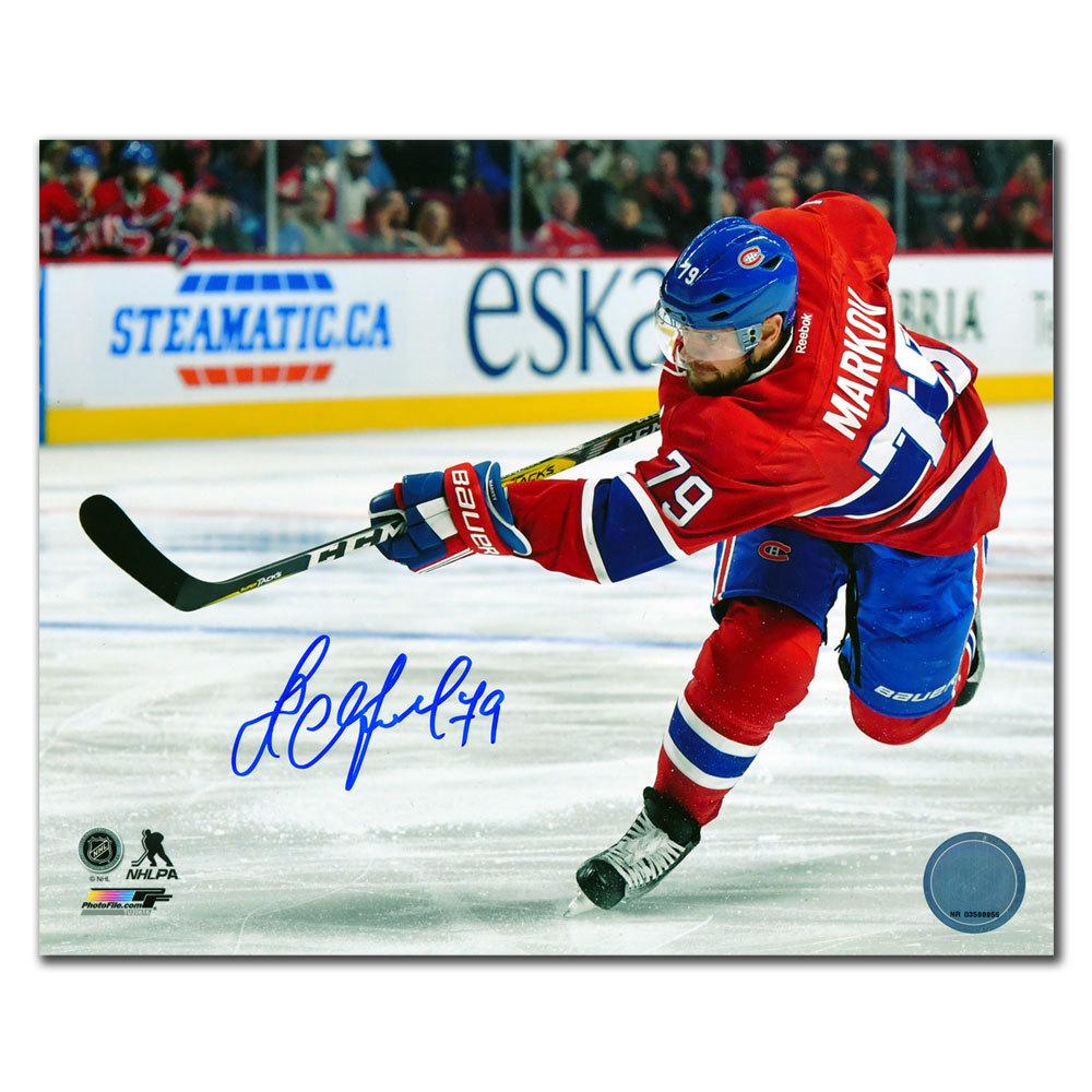 Andrei Markov Montreal Canadiens SLAPSHOT Autographed 8x10