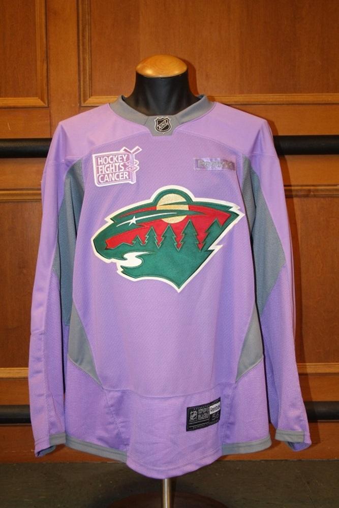 2016-17 Blank Hockey Fights Cancer Lavender Jersey