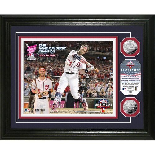 Photo of Serial #1! Bryce Harper 2018 Home Run Derby Champion Silver Coin Photo Mint