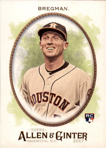 Photo of 2017 Topps Allen and Ginter #205 Alex Bregman Rookie Card