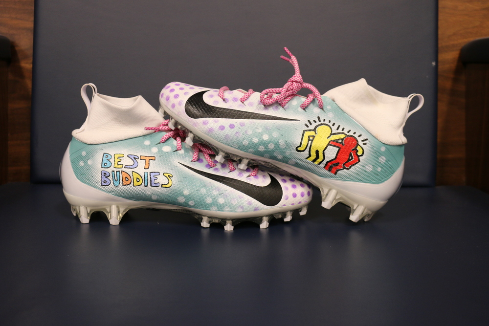 My Cause My Cleats - Titans Dion Lewis Game Worn Custom Cleats