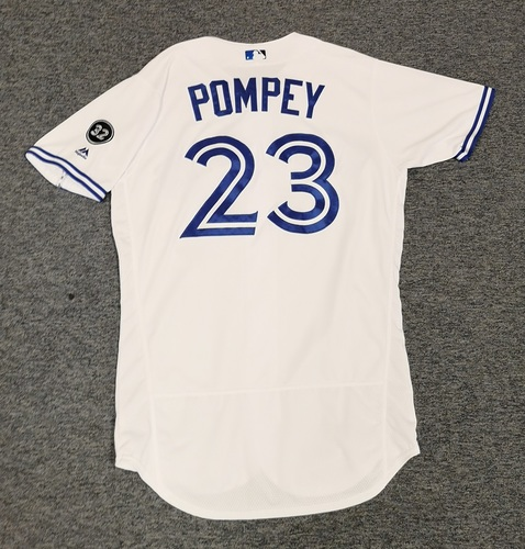 Photo of Authenticated Game Used Jersey - #23 Dalton Pompey (May 8, 18). Size 44.