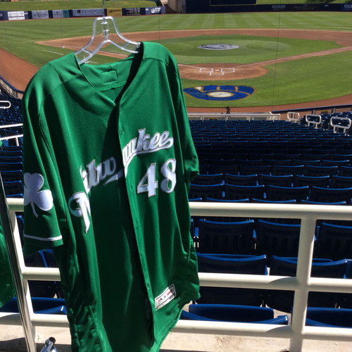 Photo of Boone Logan 2018 Team-Issued St. Patrick's Day Jersey